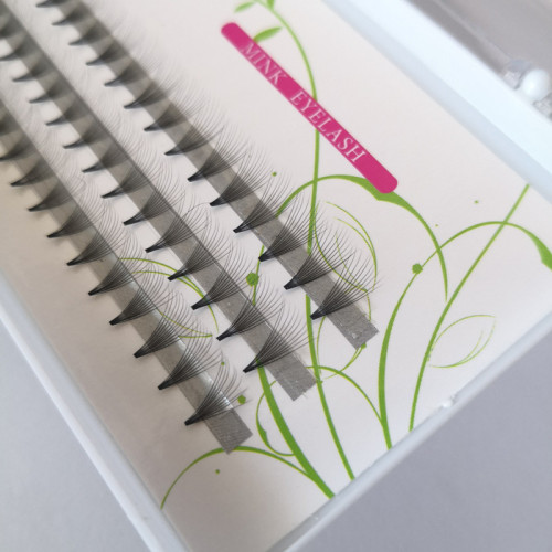 Veteran lovely 10d individual korea eye lashes extension with private label eyelash packaging