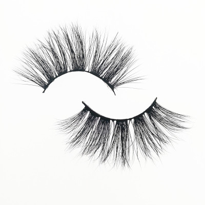 Qingdao Veteran 25 mm mink eyelashes vendor  wholesale no brand 3d mink eyelashes with eyelashes box packing