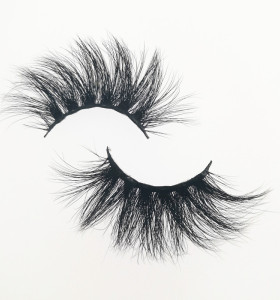 Qingdao Veteran own brand 100% mink 25mm eyelashes private label with packaging boxes eyelashes