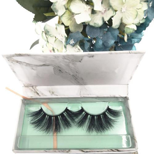Qingdao Veteran create your own brand siberian mink 3d handmade eyelashes with packaging box