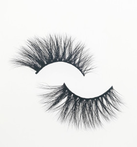 Qingdao Veteran 25mm private label wholesale full strip lashes with custom eyelash packaging box
