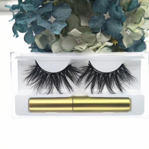 Qingdao Veteran best selling 2019 private label  magnetic eyeliner eyelashes  with eyelash case