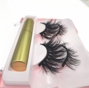 Best selling 2019 magnetic eyeliner lashes 3d magnetic 2 pairs eyelashes with lash box private label