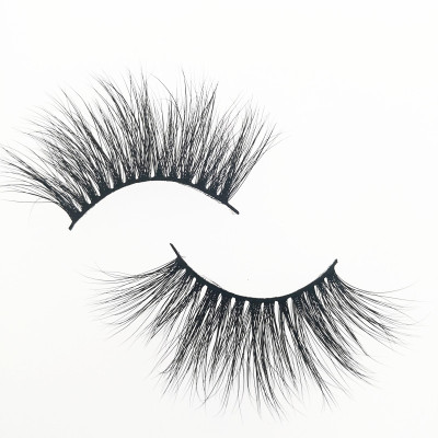 Qingdao Veteran make your own brand 25 mm siberian mink eyelash with eyelash packaging custom