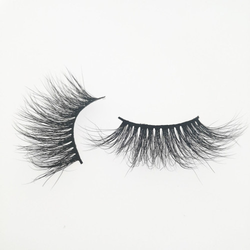 Qingdao Veteran make your own brand 25 mm siberian mink eyelash with eyelash packaging custom