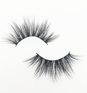Qingdao Veteran best 25mm 3d mink eyelashes wholesale full strip lashes with eyelash case