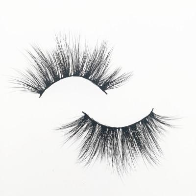Qingdao Veteran best 25mm 3d mink eyelashes wholesale full strip lashes with eyelash case