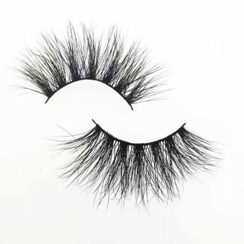 Veteran 25 mm mink eyelashes vendor real mink eyelash wholesale with custom eyelash packaging box