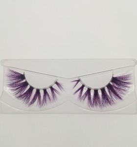 Purple lashes eyelashes mink private label eyelashes with false eyelashes packaging cardboard box