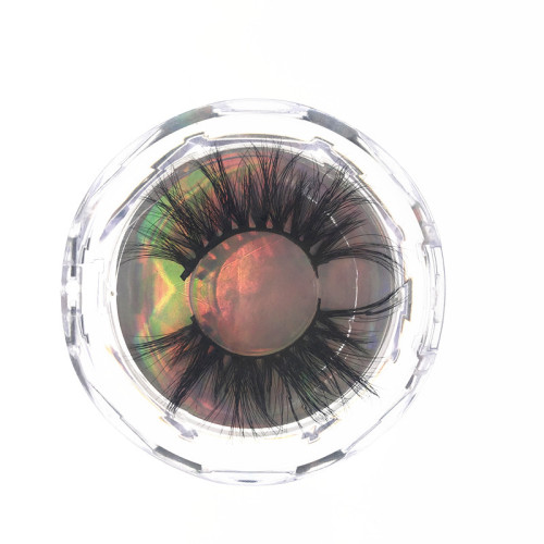 Qingdao Veteran best selling 5d 25mm mink eyelash with packaging boxes eyelashes