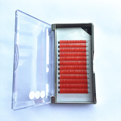 China factory red diamond false eyelash extension private label with eyelash  case packaging