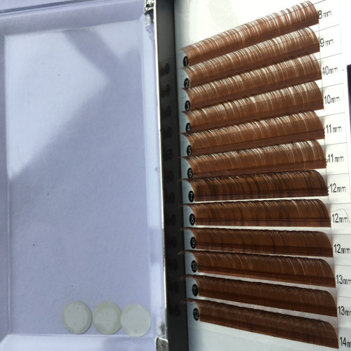 China factory brown silk mink oem eyelash extension wholesale with lash box private label