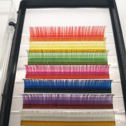 Colorful eyelash supplies private label black diamond eyelash extension with custom made eyelash box
