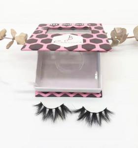 Black Cotton Band Mink Fur Private Label regular length