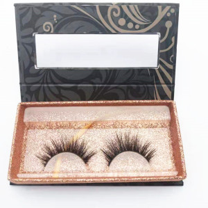 Qingdao veteran curelty OEM service false eyelashes mink fur lashes