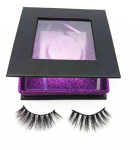 Newest popular mink  eyelash  regular length with custom package box