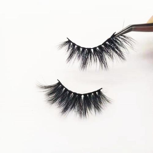 Qingdao veteran Customized hand made mink eyelashes real 100% customized eyelashes box