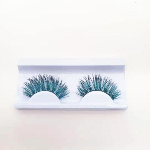Colorful beauty mink eyelash 100% handmade with custom package box