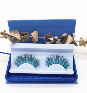 Colorful beauty mink eyelash 100% handmade with custom package box