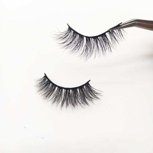 China Supplier wholesale private label mink eyelashes False Natural Strip Real Mink Eyelashes