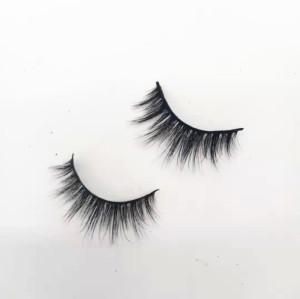 Wholesale Make Own Brand  Faux Mink Eyelashes Vendor Silk Fake Lashes Real Mink Eyelashes