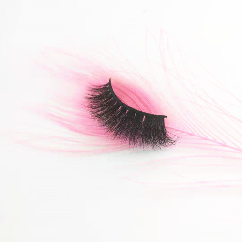 Qingdao veteran human Hair Material and Natural Black  mink eyelashes private label