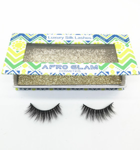 Best selling high quality regular length black mink  eyelash with  custom package box