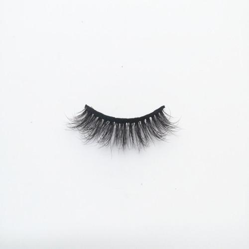 Best selling high quality regular length black mink  eyelash with  custom package box