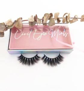 Hand made create your custom private label mink eyelashes own brand eyelashes