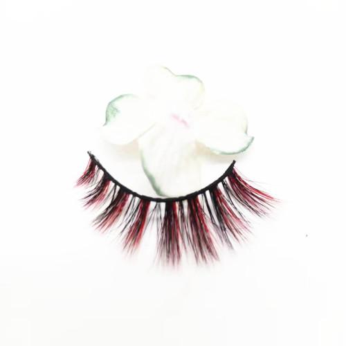Customized package colourful eyelashes wholesale price  eyelashes