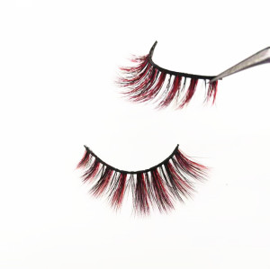 Customized package colourful eyelashes wholesale price  eyelashes