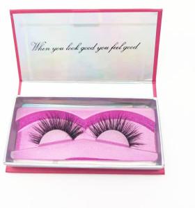 Hot selling Fluffy natural real mink lashes vendor faux 3D eyelashes private label mink eyelashes
