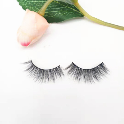 Hot selling Fluffy natural real mink lashes vendor faux 3D eyelashes private label mink eyelashes