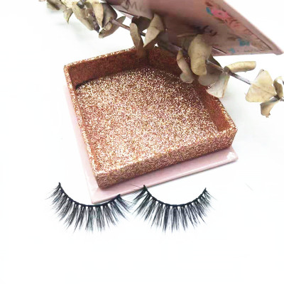 Custom Packages Round Eyelash Packaging natural loonking  Mink Eyelash