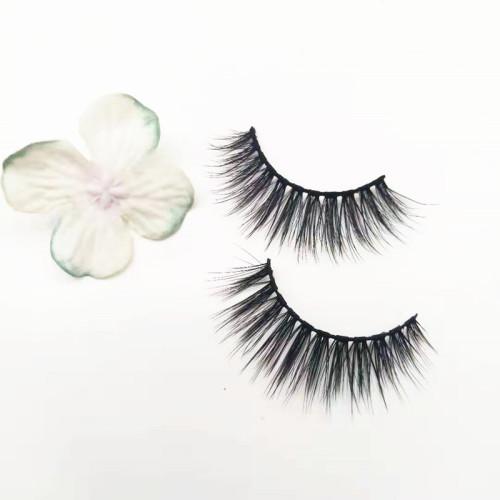 Custom Packages Round Eyelash Packaging natural loonking  Mink Eyelash