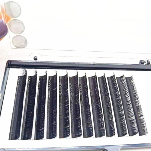 Easy to Make Fans False Eyelash Volume Private Label Lashes mixed Length