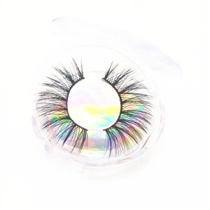 Wholesale customer logo faux mink 3d eyelashes, Natural long Makeup Private label Eyelashes