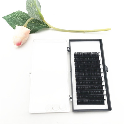 Wholesale beauty Korean silk eyelash extension individual extensions 16mm D curl