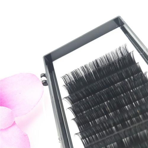 Factory natural black 0.10 Thickness Silk Mink individual Eyelash Extensions