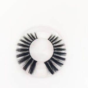 Super Soft Own Brand Professional silk mink eyelash natural Black Color