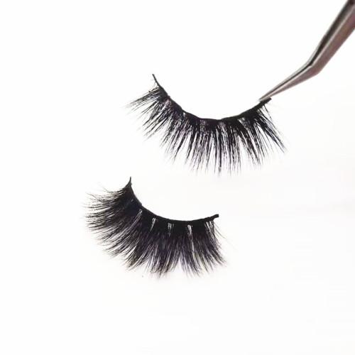 China supplier popular  mink fur eyelashes human hair strip long false eyelashes