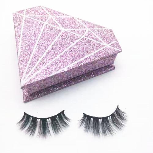 Qingdao veteran mink eyelashes vendor natural long makeup fur eyelashes 3d mink lashes