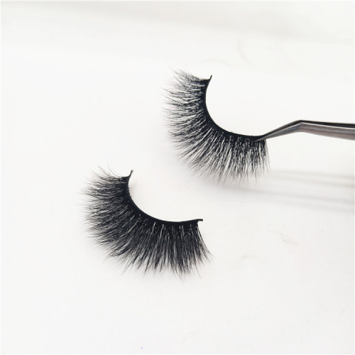 Lashes fluffy 3D mink private label human hair eyelashes regular eyelashes wholesale