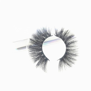 Most popular mink lashes Own Brand  Lashes Black Color Natural Soft Real Mink Fur Strip Eyelashes
