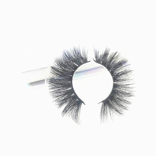 Most popular mink lashes Own Brand  Lashes Black Color Natural Soft Real Mink Fur Strip Eyelashes