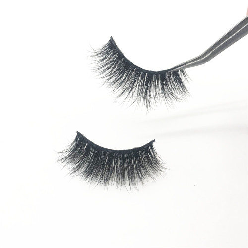 Handmade 100% fluffy 3d real mink lashes eyelashes private label custom package