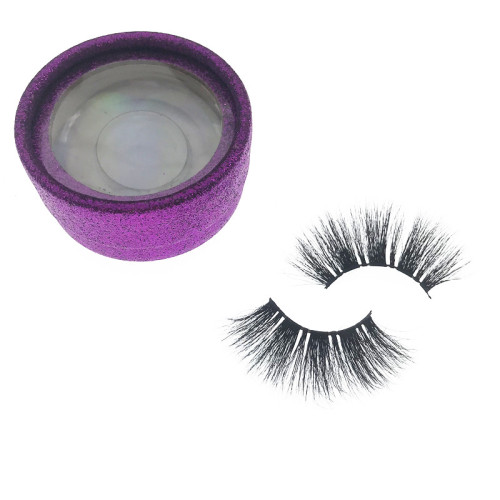 25mm lashes 3D mink eyelashes private label black fur From Qingdao