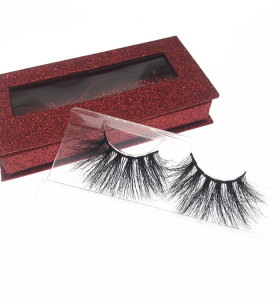 Wholesale Eyelashes Custom 25mm Mink Eyelash Strip Lashes Packaging Box