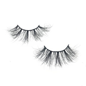 Mink Lash Strips With Custom Packaging Cruelty Free 25mm mink fur eyelash