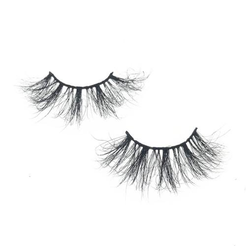 Mink Lash Strips With Custom Packaging Cruelty Free 25mm mink fur eyelash